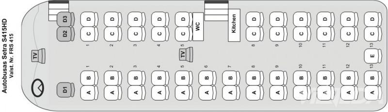 План автобуса