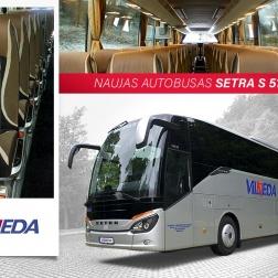 SETRA S 517 HD, 56 vt., 2017 metų!